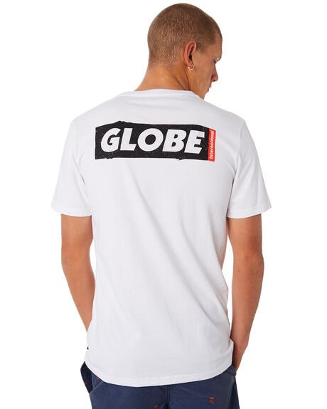WHITE MENS CLOTHING GLOBE TEES - GB01810028WHT