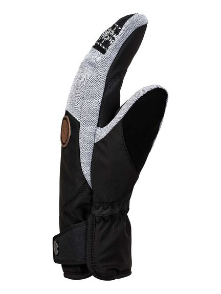 TRUE BLACK BOARDSPORTS SNOW ROXY GLOVES - ERJHN03142-KVJ0