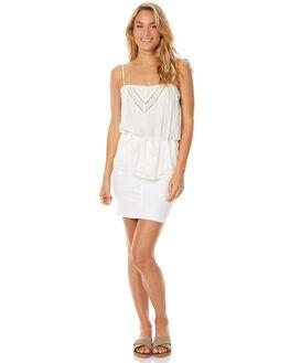 WHITE WOMENS CLOTHING ZIGGY SKIRTS - ZW-717WHT