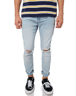 WATEGOS BLUE RIP MENS CLOTHING ROLLAS JEANS - 15465A4122