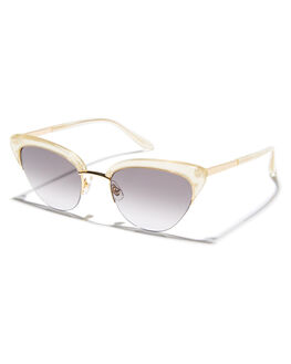 METALLIC GOLD WOMENS ACCESSORIES SUNDAY SOMEWHERE SUNGLASSES - SUN084-GOL-SUNGLD