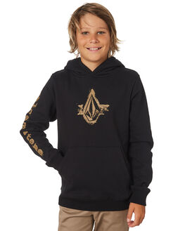 BLACK KIDS BOYS VOLCOM JUMPERS + JACKETS - C4131804BLK