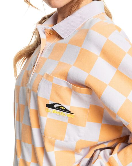 CHAMOIS CHECKER POLO WOMENS CLOTHING QUIKSILVER FASHION TOPS - EQWKT03085-NGR6