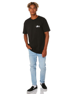 BLACK MENS CLOTHING VANS TEES - VNA49L1BLK