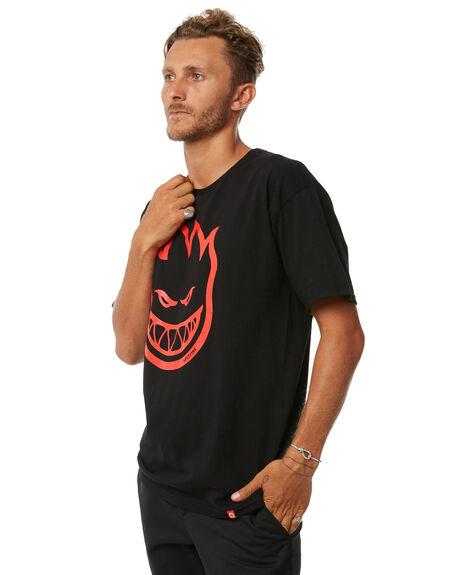 BLACK MENS CLOTHING SPITFIRE TEES - 51010001CBLK