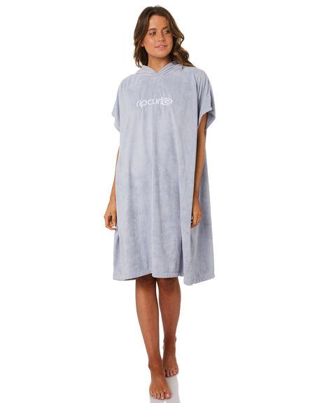 fa42245f4b Rip Curl Womens Surf Ess Hooded Towel - Light Blue