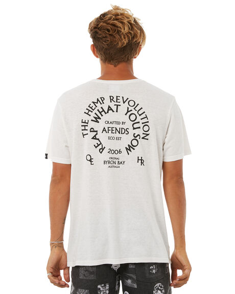 WHITE MENS CLOTHING AFENDS TEES - M181022WHT