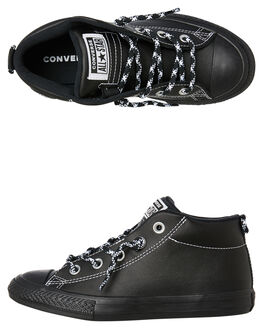 BLACK BLACK KIDS BOYS CONVERSE SNEAKERS - 662309BKBK