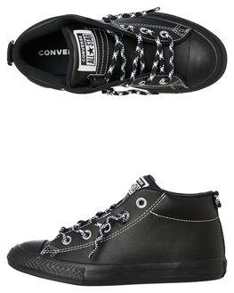 BLACK BLACK KIDS BOYS CONVERSE SNEAKERS - 662309BKBK