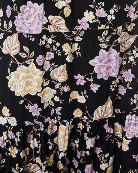 WHISPERS FLORAL BLACK  WOMENS CLOTHING SWELL SKIRTS - S8204472WHSFB