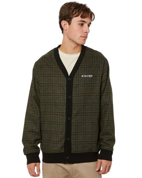 GREEN MENS CLOTHING XLARGE KNITS + CARDIGANS - XL014202GRN