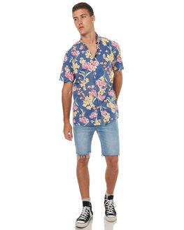 ROMEO BLUE MENS CLOTHING BARNEY COOLS SHIRTS - 323-MC3IRBLU