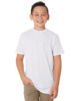 WHITE KIDS BOYS SWELL TOPS - S3193009WHITE