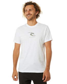 WHITE MENS CLOTHING RIP CURL TEES - CTENS91000