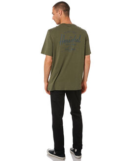 DUSTY OLIVE MENS CLOTHING HERSCHEL SUPPLY CO TEES - 50027-00468