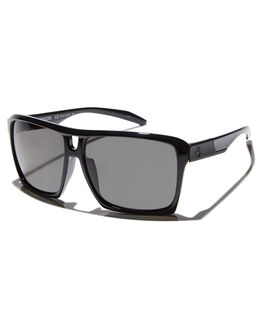 SHINY BLACK GREY MENS ACCESSORIES DRAGON SUNGLASSES - 38354-001SBLKG