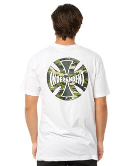 WHITE MENS CLOTHING INDEPENDENT TEES - IN-MTA8172WHT