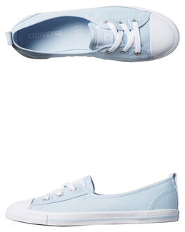 PORPOSE WHITE WOMENS FOOTWEAR CONVERSE SNEAKERS - 555892PW