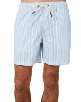 BLUE WHITE MENS CLOTHING ACADEMY BRAND SHORTS - 20S727BLWH