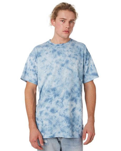 BLUE TIE DYE MENS CLOTHING THE PEOPLE VS TEES - BOXTTBTD