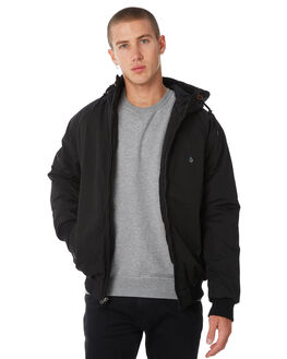 BLACK MENS CLOTHING VOLCOM JACKETS - A1731700BLK