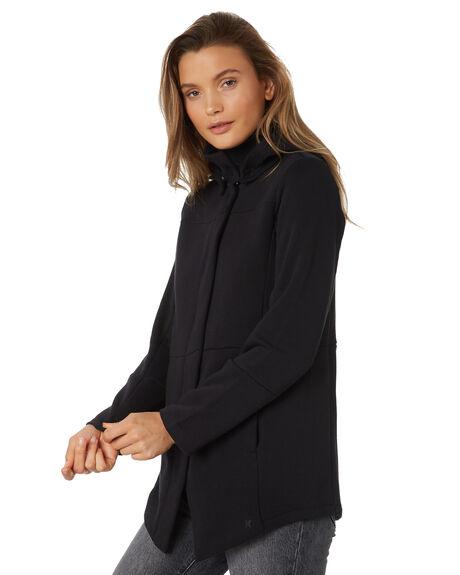 BLACK WOMENS CLOTHING HURLEY JUMPERS - AJ3610010