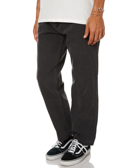 STONE BLACK MENS CLOTHING AFENDS JEANS - 12-04-060STNBK