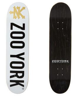 WHITE BOARDSPORTS SKATE ZOO YORK DECKS - S-ZD595WHT