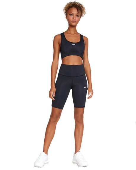 BLACK WOMENS CLOTHING RVCA ACTIVEWEAR - RV-R417320-BLK