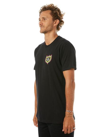 BLACK MENS CLOTHING VOLCOM TEES - A504176GBLK