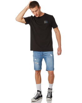 BLACK MENS CLOTHING SWELL TEES - S5182008BLACK