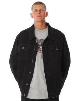 VINTAGE BLACK MENS CLOTHING RUSTY JACKETS - JKM0396VBL