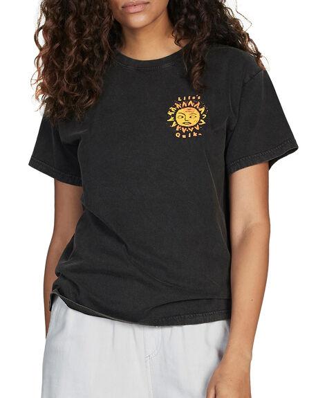 BLACK WOMENS CLOTHING QUIKSILVER TEES - EQWKT03017-KVJ0