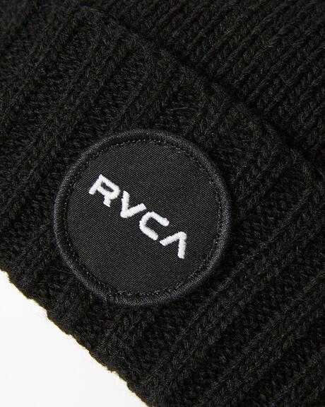 BLACK MENS ACCESSORIES RVCA HEADWEAR - R173569BBLK