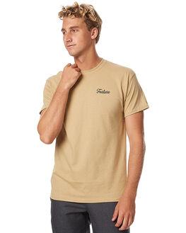 TAN MENS CLOTHING FEAT TEES - FTSSCBO01TAN