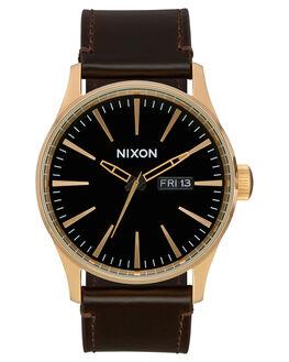 GOLD BLACK BROWN MENS ACCESSORIES NIXON WATCHES - A105-3087-GLDBL