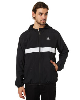 BLACK MENS CLOTHING ADIDAS JACKETS - DH3872BLK