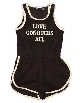 CHOCOLATE KIDS TODDLER GIRLS ROCK YOUR BABY PLAYSUITS + OVERALLS - TGB1831-LCCHOC