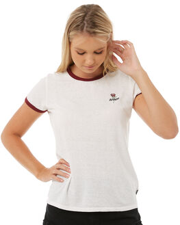 WHITE WOMENS CLOTHING AFENDS TEES - W181009WHT
