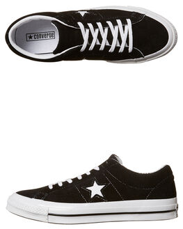 BLACK MENS FOOTWEAR CONVERSE SKATE SHOES - SS158369BLKM