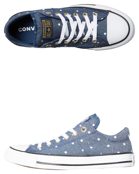 NAVY GOLD WHITE WOMENS FOOTWEAR CONVERSE SNEAKERS - 560688NVY