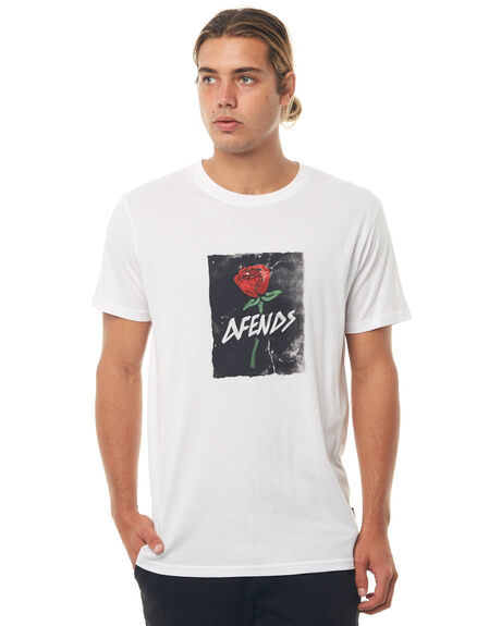 WHITE MENS CLOTHING AFENDS TEES - M181016WHT
