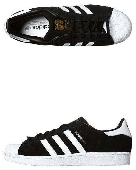 adidas superstar black white suede