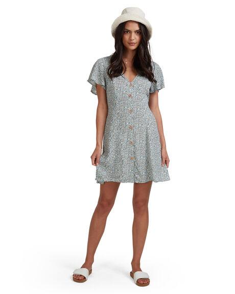 ILLUSION BLUE WOMENS CLOTHING BILLABONG DRESSES - 6513488-ILU