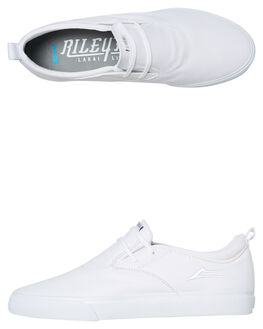 WHITE CANVAS MENS FOOTWEAR LAKAI SLIP ONS - MS2190091A00WHTC