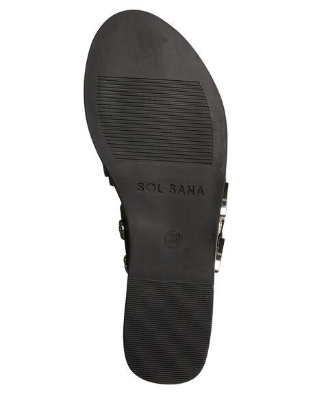 BLACK WOMENS FOOTWEAR SOL SANA FASHION SANDALS - SS172S391BLK