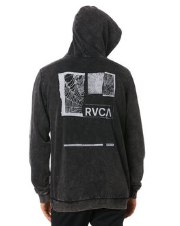 BLACK ACID MENS CLOTHING RVCA JUMPERS - R193160BKACD