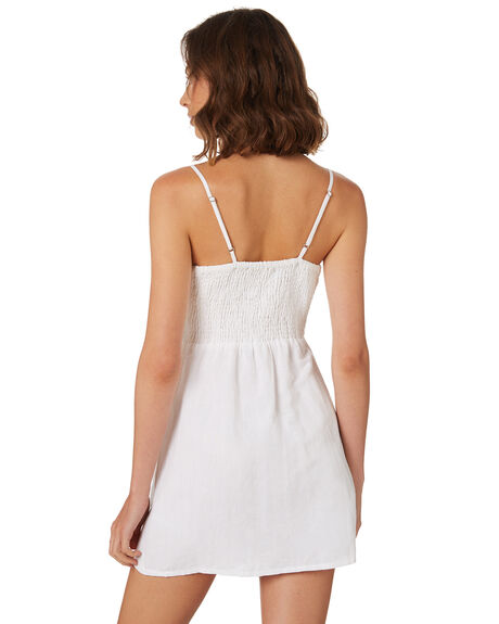 WHITE OUTLET WOMENS TROUBLE LOVES COMPANY DRESSES - T8188445WHITE