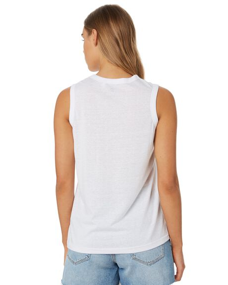 WHITE OUTLET WOMENS RIP CURL SINGLETS - GTECN21000