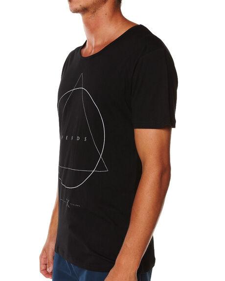 BLACK MENS CLOTHING AFENDS TEES - 01-02-018BLK